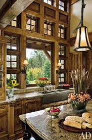 Log Home Interiors 60 Best Log Cabin Interiors Images On Pinterest Dream Kitchens