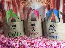 blank easter baskets burlap easter basket satin bunny ears easter egg hunt pale blank