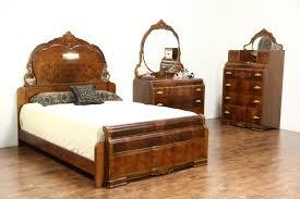 sold art deco waterfall design 1935 vintage 3 pc bedroom set