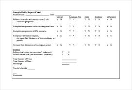 daily behavior report template report card template 29 free word excel pdf documents