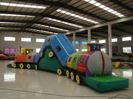 party rentals michigan choo choo bounce slide combo kids party