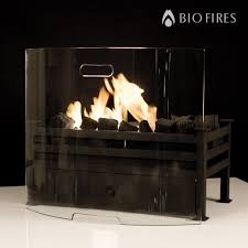 curved glass fireplace screen bio fires gel fireplaces ltd