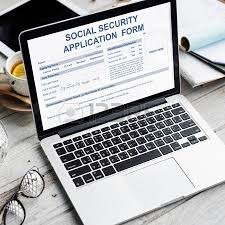 social security application form concept stock photo picture and
