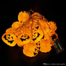2017 pumpkin cute cartoon string lights led color solar power