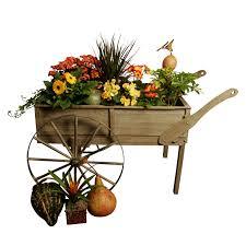 wald imports wood cart planter hayneedle