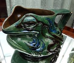 antique british art pottery a rare novelty brannam grotesque