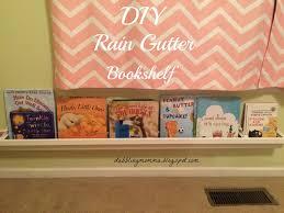 dabblingmomma rain gutter bookshelf