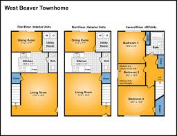 Apartment Complex Floor Plans by West Beaver Complex A Great Penn State And State College Housing