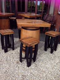 Whiskey Barrel Kitchen Table Secondhand Vintage And Reclaimed Pub Tables Square Top Oak