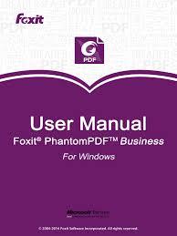 foxitphantompdfbusiness70 manual portable document format