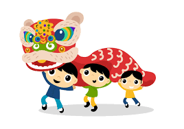 lion dancing clipart 8
