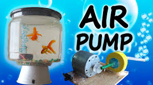 how to make a mini air pump home aquarium youtube
