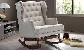 Rocking Sofa Chair Nursery Rocking Arm Chair Natural Rattan Handmade Rocking Armchair Rattan