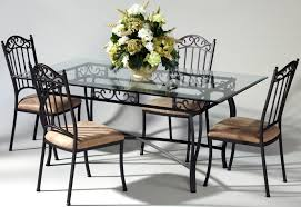 furniture modern glass and chrome dining table model homes