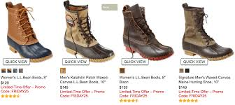 25 off ll bean duck boots free shopping today only living