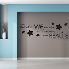 stickers muraux citations chambre stickers phrase citation 50 sur les prix magasin stickers