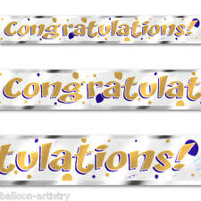 Congratulations Engagement Banner Congratulations Party Banners Buntings And Garlands Ebay