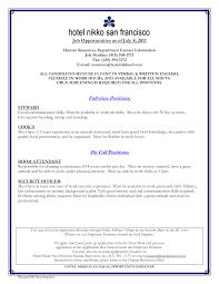 hospitality resume exle how to write a resume for hospitality hospitality resume