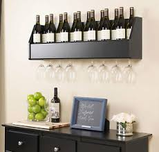 wine glass cabinet wall mount floating wall mount wine rack w wine glass storage holder new ebay
