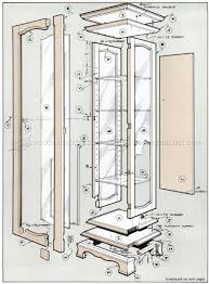 curio cabinet 52 wonderful curio cabinet plans free images ideas