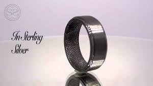 fingerprint wedding band lovemark custom men s fingerprint wedding band