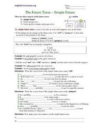 the simple future tense 5th 6th grade worksheet lesson planet