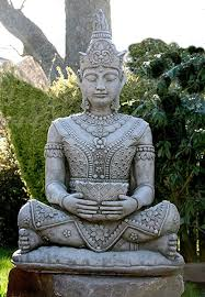 stunningly detailed sitting buddha garden ornament statue