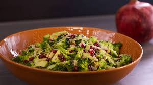 graham elliot s broccoli salad with pomegranate seeds and