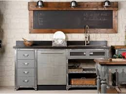 cuisine bois acier meuble cuisine acier fresh meuble de cuisine bois meuble cuisine