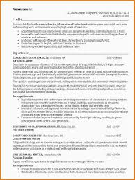 Example Of Resume In English by 6 Example Of Resumes Nypd Resume