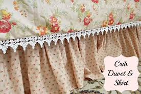 sewing project crib duvet cover and crib skirt days of chalk