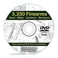 3250 gun rifle shotgun firearm users manuals on dvd snail