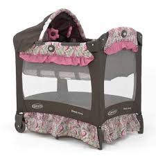 Pink And Brown Graco Pack N Play With Changing Table Graco Travel Lite Crib Jacqueline