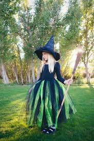 child good witch costume diy glinda and wicked witch of the west halloween costumes