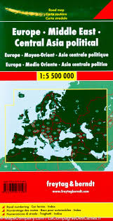 Asia Political Map Political Map Of Europe Middle East And Central Asia Freytag