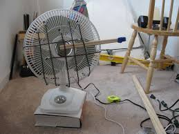 mechanical pseudo flying crank ghost test using oscillating table fan