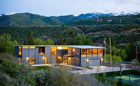 luxury prefab house in aspen colorado