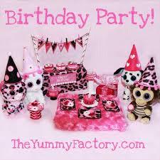 beanie boo party surprise birthday party tea light cakes