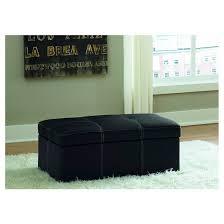 delaney large storage ottoman black dorel home products target