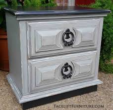 nightstands painted glazed u0026 distressed facelift furniture