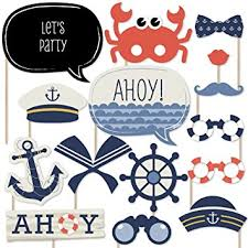 photo booth props ahoy nautical photo booth props kit 20 count decorations