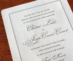 classic wedding invitations classic wedding invitation design leslie letterpress wedding