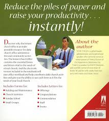 the instant church office a pastor u0027s resource of forms and