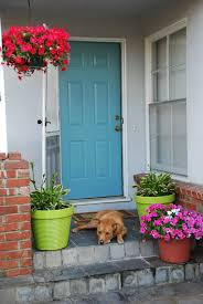 Blue Front Door Meaning by Other Design Archaic Image Of Front Porch Decoration Using Single