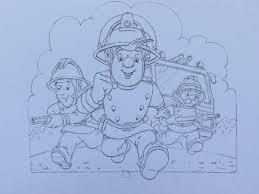 cartoon creator lines special gift fireman