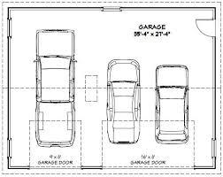 4 car garage size 36x28 3 car garage 1 008 sq ft pdf floor plan springfield
