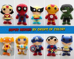 one super hero plush toy 1 felt plush heroe of your choice