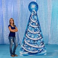 Frozen Christmas Decorations Frozen Wonderland Tree Standee Winter Party Decorations