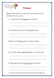 grade 3 grammar topic 9 pronouns worksheets lets share knowledge