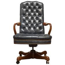 tufted leather desk chair fine tufted leather desk chair by schafer brothers for sale at 1stdibs